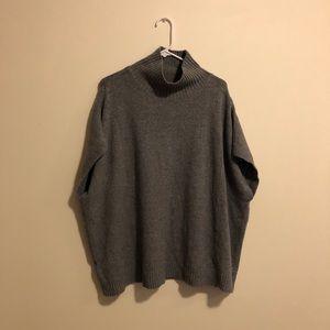 LOU & GREY Gray Turtleneck Vest